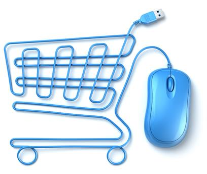 Online shopping cart mouse trolley